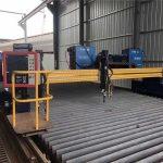 автоматизирана машина за плазмено рязане с цнк двойно задвижване 4m педя 15m релси