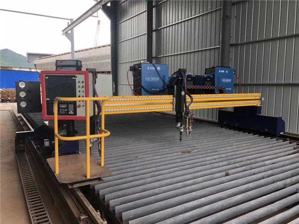 Автоматизирана машина с CNC плазмено рязане двойно шофиране 4m педя 15m релси