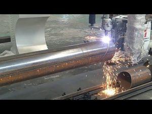 CNC 3 ос плазмена пламна тръба въртяща се тръба за рязане на стомана