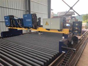 Двоен задвижващ портален CNC плазмено рязане машина за рязане на твърда стомана H лъч производствена линия